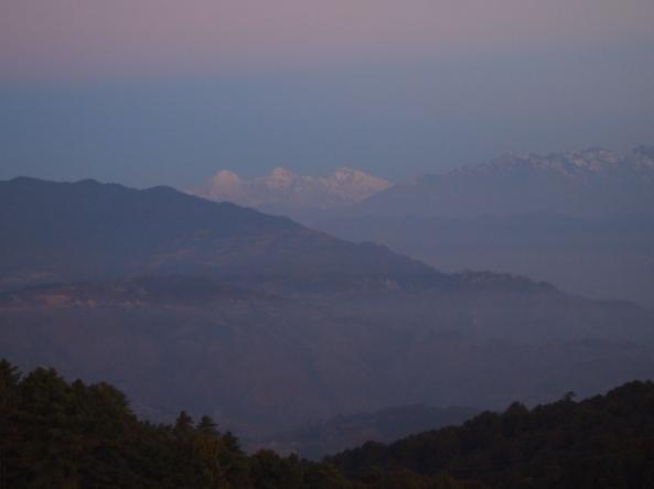 sunrise on the Langtang Range